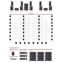 Buy cheap Stage Outdoor Movie Audio System  Low Noise Easy Operation 120-800W product