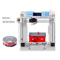 Buy cheap Desk Top Industrial 3D Printer Heated Bed White Single Extruder Metal Plate product