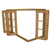 Buy cheap Durable Wood Grain Aluminum Bifold Windows With Nylon Fly Screen Customized Size product