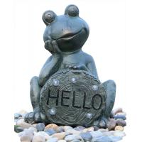 Buy cheap Garden Statue Fountains Vivid Frog Statue Green Frog Magnesia Water  right weight Fountain product