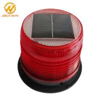 Quality Magnetic Bottom Red Traffic Warning Lights , LED Solar Emergency Warning Light for sale