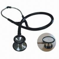 Buy cheap Dual-head Stainless Steel Cardiology Stethoscope, Single Diaphragm Type product
