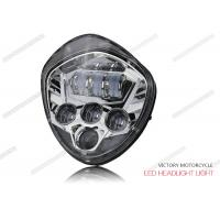 Quality 40W - 60W LED High Low Beam Headlights 12V DC 6500K For Victory Motocycle for sale