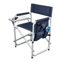 Buy cheap Blue Aluminum Hardware Products Foldable Aluminum Sports Chair 250 Lb. product