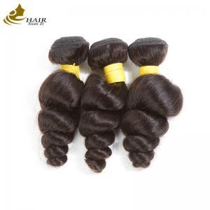 Buy cheap Loose Wave Virgin Peruvian Hair Bundles Grade 10A , Malaysian Body Wave Hair from wholesalers