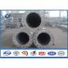 Quality Single Circuit 69KV Power Steel Tubular Pole with Hot dip Galvanization for sale
