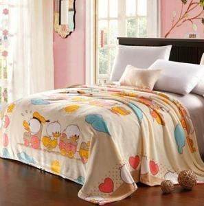 Buy cheap Polyester Fleece Micro Fiber Blanket Cartoon Duck , King Size Throw Blanket product