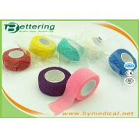 Buy cheap Non Woven Elastic Cohesive Bandage For Finger , Self Adherent Bandage Wrap from wholesalers