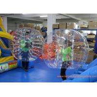 Buy cheap Clear Inflatable Bubble Ball Red Straps Adults Inflatable Belly Ball Bump Bubbles with CE from wholesalers