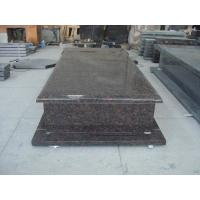 Buy cheap Tan Brown Brown Granite Headstones , Cemetery Memorials Headstones European Style product