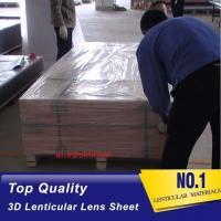 Quality 120x240cm PS rigid sheet 30LPI lens for Inkjet Printing 3D lenticular billboard for sale