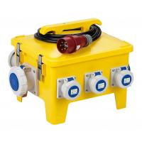 Quality Yellow Mobile Portable Electrical Distribution Box Shock Resistant PE Enclosure for sale