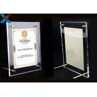 Buy cheap Clear Acrylic Photo Frame A4 A3 Certificate / Business License Frame product