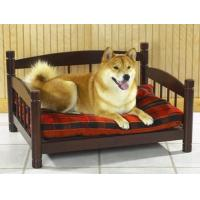 China Dog beds Pet bed sofa, made in solid hardwood, rosewood color stained finish on sale