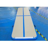 Buy cheap Practical Inflatable Air Track Mat 3 X 1 X 0.1 M Electric Air Pump With Velcro product