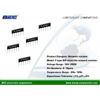 Buy cheap 200V, -55℃ ~ 125℃ Resistors Network - F Type With Stable Performance for Limited Space PCBs product