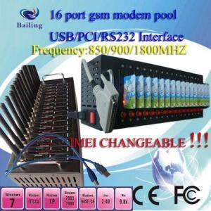 Buy cheap PCI 16 ports GSM/GPRS SMS modem pool (siemens/wavecom module ) product