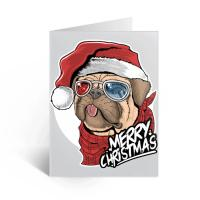 Quality Cute 3D Lenticular Greeting Cards For Christmas Holiday Water Resistant for sale