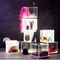 Buy cheap Light weight Acrylic Storage Boxes , decoration clear display boxes product