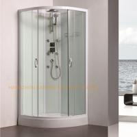 Buy cheap 800 x 800mm quadrant shower enclosure sliding shower glass door with back jets product