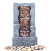 Buy cheap Stone Step 3 Tier Outdoor Fountain , Exterior Water Fountains In Granite Color product