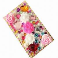 Buy cheap Crystal sticker/bling sticker/rhinestone sticker for iPhone 4, OEM orders are welcome product