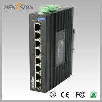 Quality 8 Port  RJ45 unmanaged full Managed Gigabit Ethernet Switch , industrial Din rail switch for sale