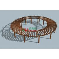 Buy cheap Prefabricated Composite Round Prefab Pergola Kits , Recyclable 100% Large Pergola Kits product