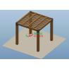 Buy cheap Square Wood Plastic Composite Pergola High Grade UV Resistance 2.7m * 2.7m * 2.7m product