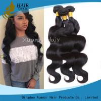 Buy cheap 100% Malaysian Hair Weave Bundles , Permanent Body Wave Hair No Tangling product