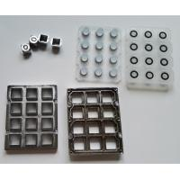 Buy cheap Industrial audio phone metal keypad parts with keys, silicone and frame for Taiwan product
