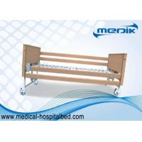 Buy cheap Disabled Care Electric Foldable Nursing Home Bed Locking Wheels product