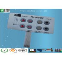 Buy cheap Embossing Polydome Switch With Led Display Band , Tactile Membrane Push Button Switch product