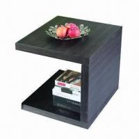 Buy cheap End table with MDF and white high glossy painting/walnut product