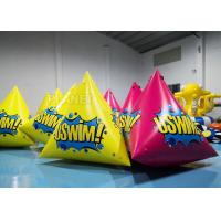 Buy cheap 2.5m Inflatable Water Floating Marker buoys With Logo Yellow / Pink product