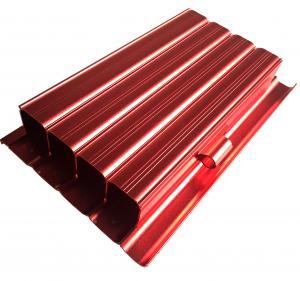 Buy cheap 6063 Aluminum Housing CNC Machining Parts Anodized Aluminium Profile Red Color product