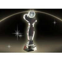 Buy cheap Simple Design Crystal Trophy Cup Color Engraving / Printing In Golf Competition product