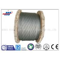 Buy cheap Strong Galvanized Steel Wire Rope , Aircraft Grade Wire Rope Anti Rotation For Heavy Machinery product