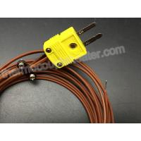 Buy cheap Type K Thermocouple RTD With Miniature Male 2 Pin Connector Teflon Cable product
