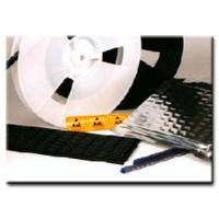 Buy cheap PS, PC, PET SMD carrier tape and reel with 44mm, 56mm, 72mm, 88mm product