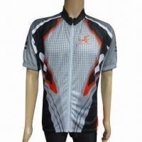 China Sublimated Printing Cycling Jersey, Back Bottom is Tailored with Anti-slip Elastic on sale