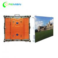 Buy cheap Portable Outside LED Display Cabinet For Hire , 96X96 Slim P6 LED Display 192X192mm product