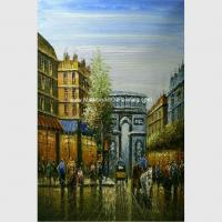 Buy cheap Paris Abstract Painting Eiffel Tower / Paris Street Paintings Palette Knife With from wholesalers