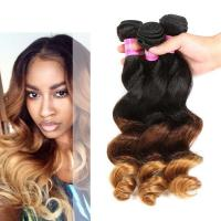 Buy cheap Peruvian Loose Wave Ombre Human Hair Extensions For Black Women product