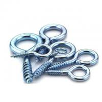 Buy cheap Hardening Zinc Plated Screw Eyes Round Head For Buildings / Engeering Equipment product