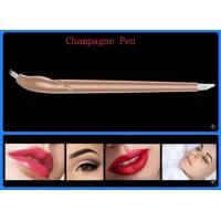 Buy cheap champangne disposable Microblading Pen painless perfect brows OEM #9 PMU from wholesalers
