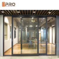 Buy cheap Powder Coated Aluminium Sliding Glass Doors For Construction Buildings product