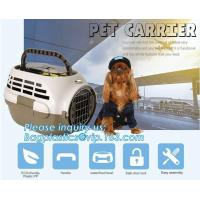 Fashion Design Luxury Travel Pet Air Carrier Dog /Cat Transport Plastic Cages