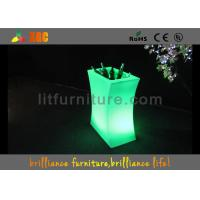 Buy cheap Modern Electric Champagne Cooler , Green Led Light Up Buckets For Wine product