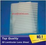 Buy cheap PET lenticular materials thinner lens 51x71cm,0.58mm 100LPI lens Sheet 3D Lenticular  film materials for UV offset print product